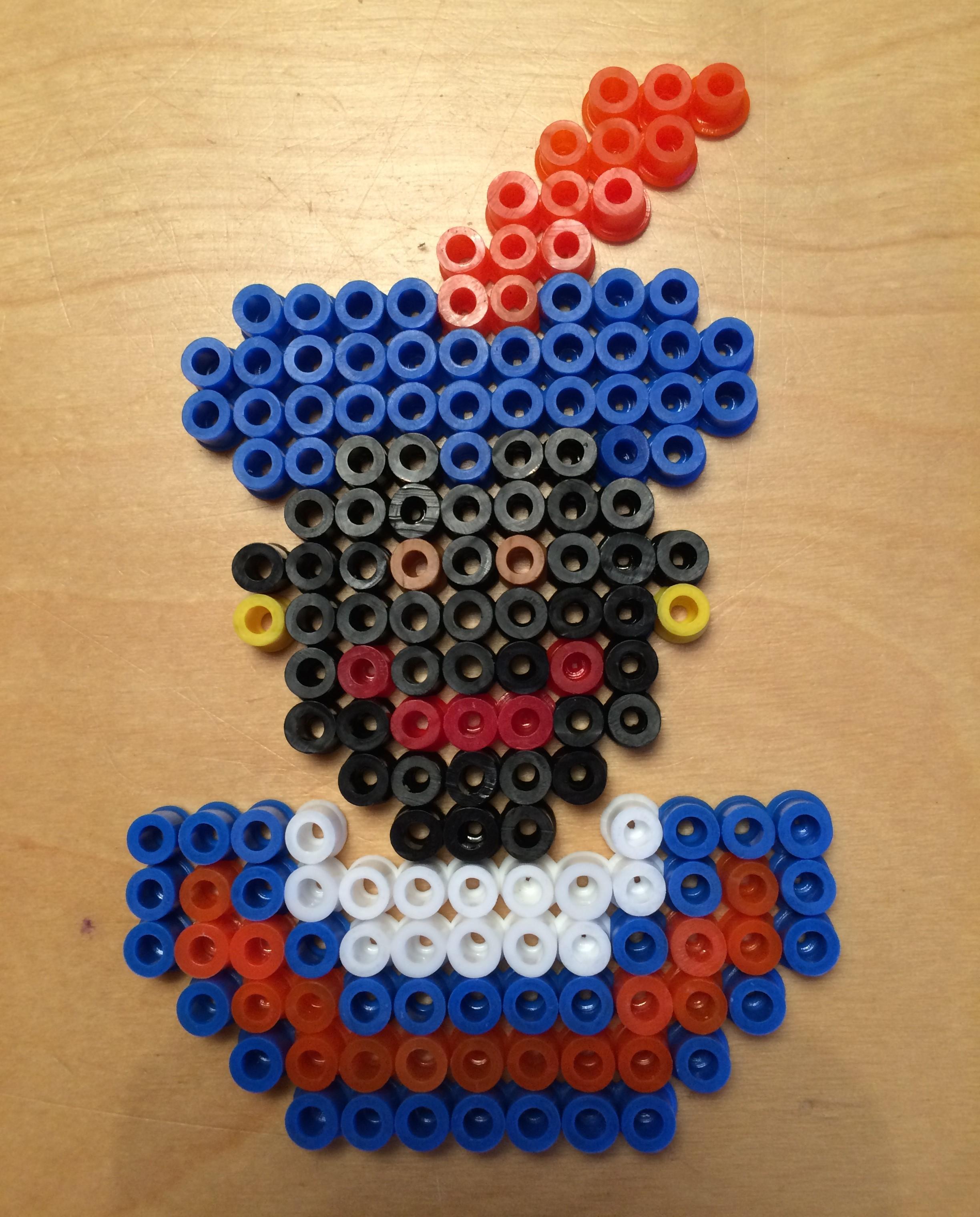 Strijkkralen Zwarte Piet een serie in kleur