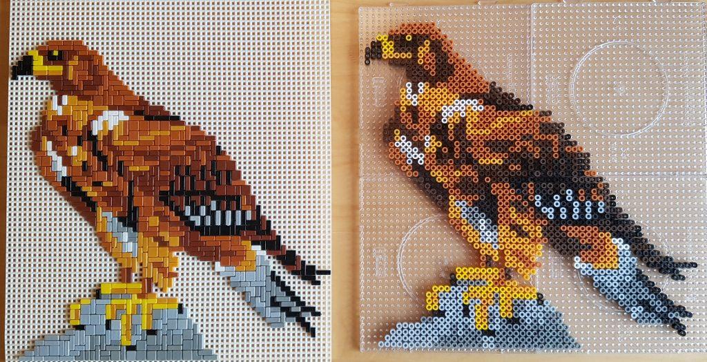 Strijkkralen roofvogel - Strijkkralen en zo!
